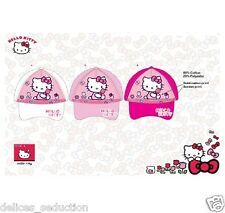 Casquettes Hello Kitty Fille Chapeaux Enfant Rose Blanc Taille 52 54 Neuf