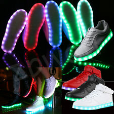Lovers Unisex LED Light Lumin Sneaker Shoes Sportswear Party Dance USB Charge