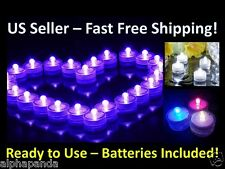 1-60 LED Submersible Waterproof Home Wedding Party Decoration Tea Light No Flame