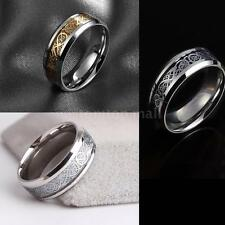 Fashion Personality Dragon Pattern Stainless Steel Men Male Ring Jewelry TM Q4N9