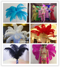 Wholesale 10-100pcs High Quality Natural WHITE OSTRICH FEATHERS 14-22inch/35-55c