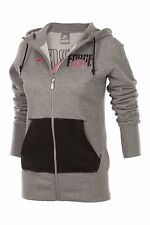 Nike Womens aw force Full Zip Hoodie Grey Jumper Hoody Jackets UK Size Xs Large