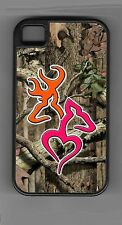 L@@K! Ultimate Orange & Pink Deer Heart camo cell phone or iPod case or wallet!
