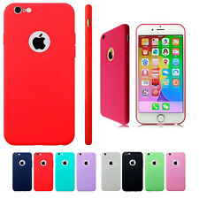 Ultra Slim Soft Rubber TPU Gel Back Case Cover For Apple iPhone 5 5s 6 6s Plus