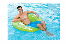 Intex Inflatable Sit N Lounge Pool Float / Chair - Green or Turquoise