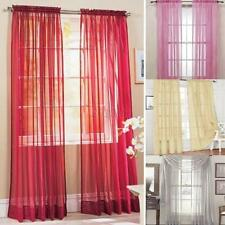 1PC Door Room Voile Window Curtain Sheer Panel Drapes Scarfs Lot Solid Colors