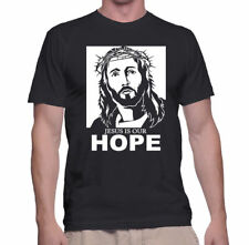 T Shirt Jesus New Christian Mens S Christ Tshirt S Black Hope Womens