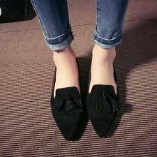 Hot Sale Womens Tassel Casual Flats Pointed Toe Oxford Loafers Moccasins Shoes 8