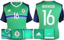 *2016 - ADIDAS ; NORTHERN IRELAND HOME SHIRT SS / NORWOOD 16 = SIZE*