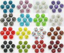 20pcs Czech Crystal Rhinestones Pave Clay Round Disco Ball Spacer Bead 10mm New