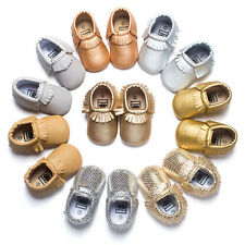Colorful Tassel Soft Leather Boy Girl Shoes Infant Toddler Prewalker 0-18 562 MK