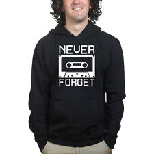 Never Forget Cassette Tape Retro Music Vintage Audio Player Sweatshirt Hoodie