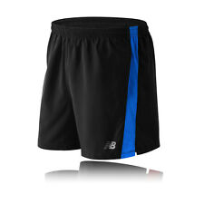 "New Balance Accelerate 5"" Mens Black Wicking Running Shorts Pants Bottoms"