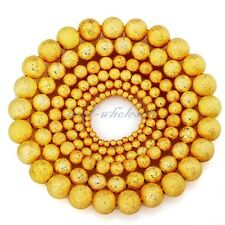 100pcs SILVER & GOLD Round Stardust COPPER Ball Spacer BEADS 3MM 4MM 5MM 6MM