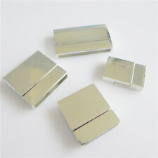 5pcs/lot Silver Plated Square Copper Magnetic Clasps Slide Lock jewelry Finding