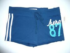 Womens Girls AEROPOSTALE Navy Blue Shorty Shorts size S NWT #7027