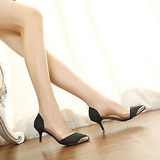 New Womens Fashion Pointy Toe Stiletto High Heel Pumps Court Party Evening Shoes