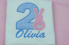 Personalised Baby Toddler Childrens Childs Kids T Shirts Age Name Embroidered