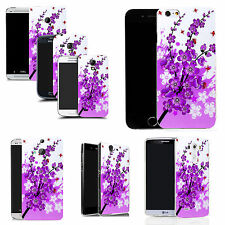gel rubber case cover for  Mobile phones - purple floral bee silicone