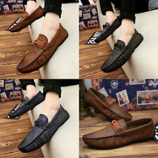 Mens Summer Soft Casual Leather Loafers Slip On Moccasin Driving Shoes VB08