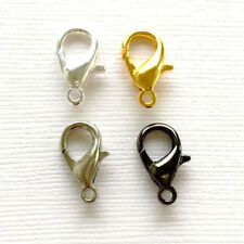 120/100/80Pcs Golden&Silver Plated Lobster Clasps Hooks Jewelry Findings 10-14MM