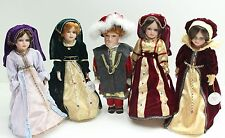 New King & Court King Henry VIII 8th & Wives Porcelain Dolls Historical Doll