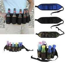 Party Beer & Soda Drink Bottles Can Belt 6 Pack Holster - Great For Beer Lovers