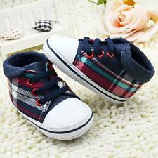 Baby Boys Canvas Sports Prewalker Crib Shoes Infant Soft Sole Shoes Sneakers