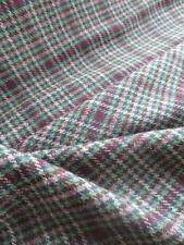 Scottish Tweed Pure New Wool Fabric- Estate Check- Croft- By the Meter