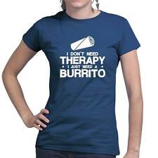Burrito Therapy Mexican Mexico Food Ladies T shirt - Funny Joke Tee T-shirt