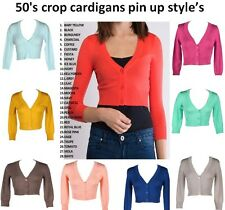 50's crop cardigans pin up style's