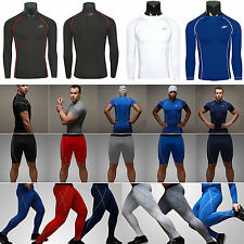 Mens Compression Base Layer Tights Top Shirt Under Skins T-Shirts Shorts Pants
