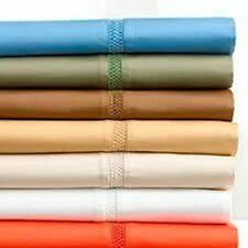 SCALA 1000TC SOFT SHEET SET 4PC SOLID 100% EGYPTIAN COTTON ALL SIZE & COLORS