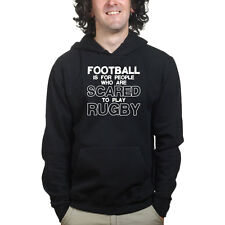 Football is For Wimps Rugby League Union Sweatshirt Hoodie - Funny Sports Shirt