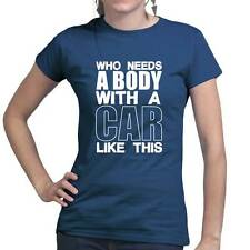 Who Needs A Body Ladies T shirt - Funny Sports Fitness Exercise Training Top