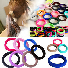 10X Colorful Elastic Rope Ring Hairband Women Girls Ponytail Holder Hair Band FC