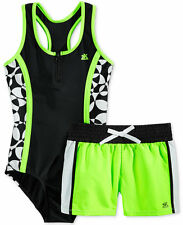 NWT Zero Xposur Girls' One-Piece Swimsuit & Shorts OR Skirt Set $50