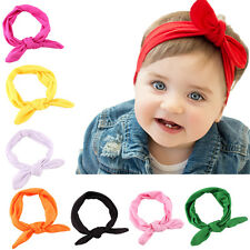 Fashion Baby Newborn Headbands Stretch Rabbit Bow Ear Turban Knot Hair Band EFC