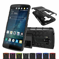 Hybrid Heavy Duty Shockproof Rugged Kickstand Case Hard Cover for LG V10 F600