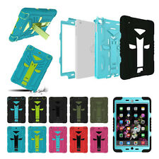Rugged Full Body Protection Hard Stand Case Cover Built-in Screen Guard For iPad
