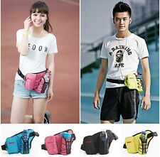 Sports Waist Bag Fanny Pack Bum Bag Pouch Hiking Running w/ Water Bottle Holder