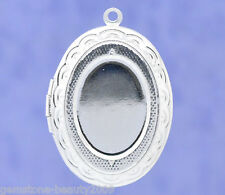 Wholesale HX Plated Photo Oval Locket Frame Pendants 34x24mm