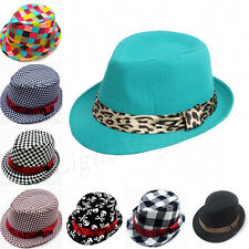 Baby Girl/Boy Toddler Kid Fedora Hat Jazz Cap Photography Cotton Trilby Top New