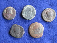 SCARCE Lot of (5) Large Premium Roman Bronze/copper Coins