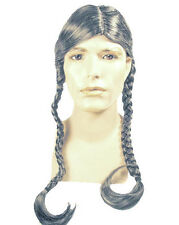 Deluxe Willie Nelson Braided Costume Wig Country Singer Lacey Hippie Indian