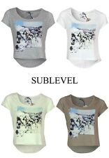 Sublevel T Shirt Top Size. XS, S M L XL 4 Colours New