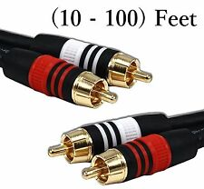 RCA Stereo Red White Audio RG59 75 Ohm Cable for Surround Sound DVD Blu-Ray TV