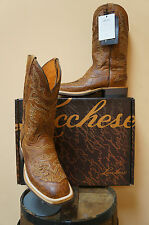 MENS LUCCHESE COWBOY WESTERN BOOTS! CX7965.W8S-SMOOTH OSTRICH!EXOTICS! NIB!