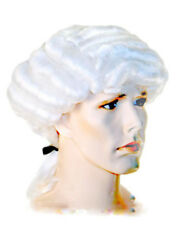 New Bargain Barrister Wig Courtroom Colonial Lawyer Lacey Costume Full Curls