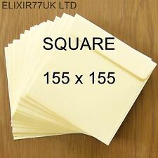 SQUARE 100gsm QUALITY IVORY ENVELOPES CARDS PAPER INVITATION WEDDING PARTY CRAFT